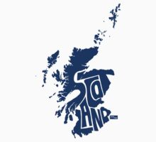Scottland Type Map (Blue) by seanings