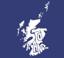 Scotland Type Map (White) by seanings