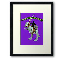 Because Action Figures Framed Print