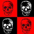 Red/black Skulls by Rockyrock