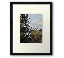 Finding the Magic (In Amsterdam at Christmas time) Framed Print