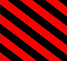 Black/Red Striped Phone Case by Ensore Industries