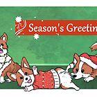 Seasonal Corgis by DontWorryBHolly