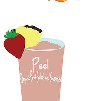 Peel: Organic Fruit Salads & Smoothies Logos by Belinda  Mata