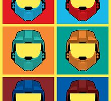 Warhol's Red vs Blue by LikeUnicorn