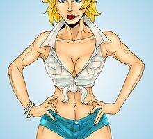 Blonde Pinup Chick by Luke Kegley