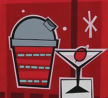 RED BAR - Panel 3 by G. Allen Black