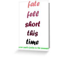 blink-182 - Fate Fell Short Greeting Card