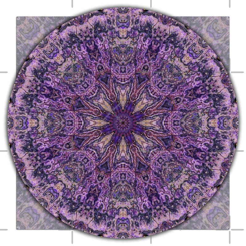 """Crown Chakra Mandala 1"" by haymelter | Redbubble"