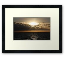 Subdued sunset at Henley Beach, South Australia Framed Print