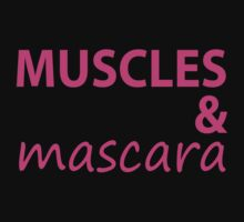 Muscles and Mascara Tee. Running Tee. Gym Tee. Fitness CrossFit. by Max Effort