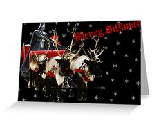 Merry Sithmas / With Snow - Remastered Greeting Card