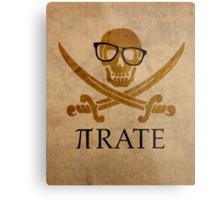 Pirate Humor Math Number Pi Nerd Poster Metal Print