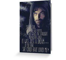 Kili - The Hobbit the desolation of Smaug Greeting Card