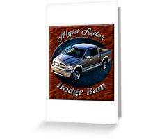 Dodge Ram Truck Night Rider Greeting Card