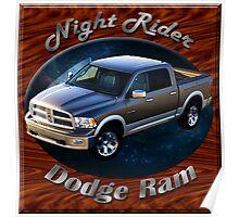 Dodge Ram Truck Night Rider Poster