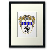 Jones Welsh Coat of Arms/Family Crest Framed Print