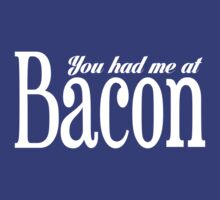 You Had Me At Bacon (white ink) Workout Tee. Crossfit Tee. Exercise Tee. Weightlifting Tee. Running Tee. Fitness by Max Effort