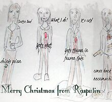 Rasputin Christmas Card by Poppy B. Brite