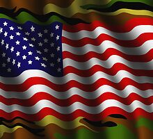 Camouflage American flag background by creativedesignz