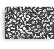 Chalkboard branches pattern Canvas Print