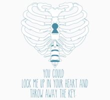Bring Me The Horizon Rib Heart Blue by Kayla Karol