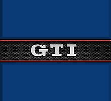 GTI Phone & iPad case - blue by Benjamin Whealing