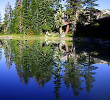 Calm lake in northern california by creativedesignz