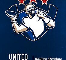 United Gridiron Football League Poster by patrimonio