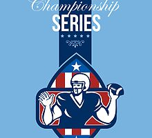 American Football State Championship Series Poster by patrimonio