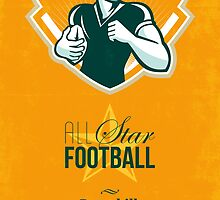 American All Star Football Retro Poster by patrimonio