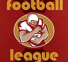 American United Football League Poster Retro by patrimonio