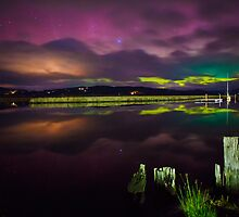 Aurora Australis at Franklin, Tasmania #6 by Chris Cobern