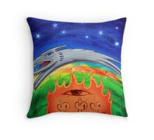 Dogfire with Paramecium Eye Throw Pillow