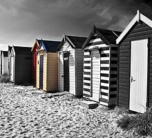 Beach Huts Southwold by Paul Saunders