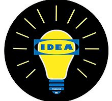 Bright IDEA parody logo for IKEA by AdultTitles