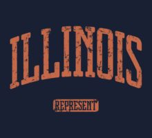 Illinois Represent (Orange Print) by smashtransit