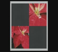 Mottled Red Poinsettia 1 Ephemeral Blank Q6F0 Kids Clothes