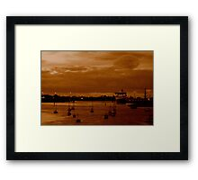 vintage:  spirit of tasmania at sunset Framed Print