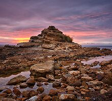Blackmans Bay Rocks Sunrise #17 by Chris Cobern