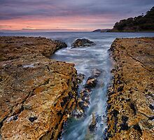 Blackmans Bay Rocks Sunrise #11 by Chris Cobern