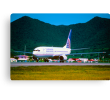 Continental Airlines Boeing 737-800 Canvas Print