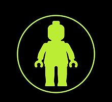 MINIFIG GREEN by Chillee Wilson from Customize My Minifig by ChilleeW
