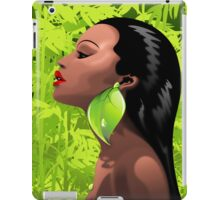 Woman African Beauty and Bamboo iPad Case/Skin
