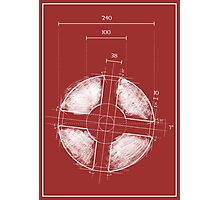 Team Fortress Logo Blueprint RED Photographic Print