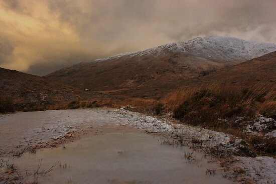 Snow-capped Croaghnageer by Adrian McGlynn