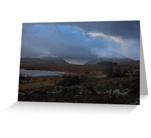 Lough Mourne and Barnes Gap in Winter Greeting Card