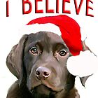 Chocolate Lab Believe by IowaArtist