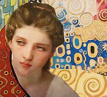 Klimt and Bouguereau  by Kanchan Mahon