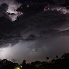Lightning strike - Gladstone by Mark Fitzpatrick